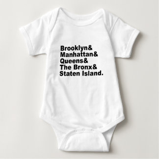 The Five Boroughs of New York City Tee Shirt