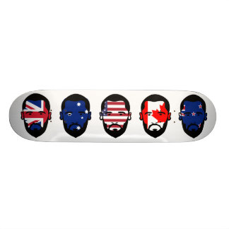 The Five Eyes Custom Skateboard