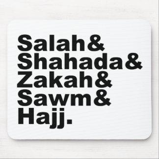 The Five Pillars of Islam | Muslim Prayer Faith Mouse Mat