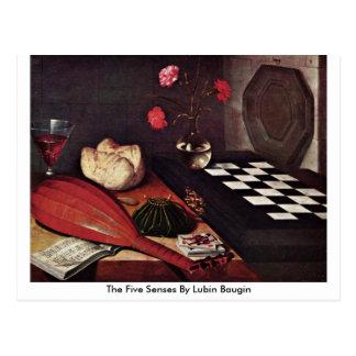 The Five Senses By Lubin Baugin Postcards