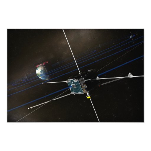 The five THEMIS spacecraft in orbit Photo