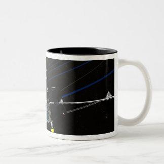 The five THEMIS spacecraft in orbit Two-Tone Coffee Mug