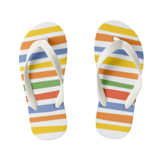 The Fixies | Multicolored Striped Kid's Flip Flops