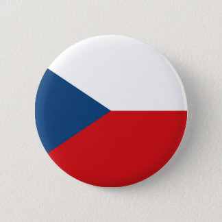 The Flag Czech Republic 6 Cm Round Badge