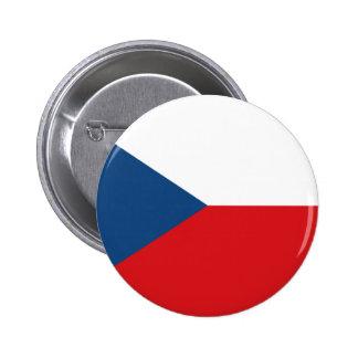 The Flag Czech Republic 6 Cm Round Badge