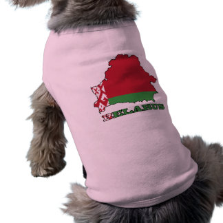 The Flag in Map of Belarus Doggie Tee