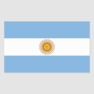 The Flag of Argentina Rectangular Sticker