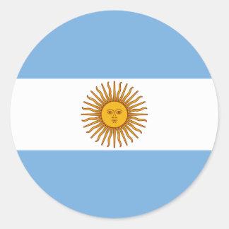 The Flag of Argentina Round Sticker