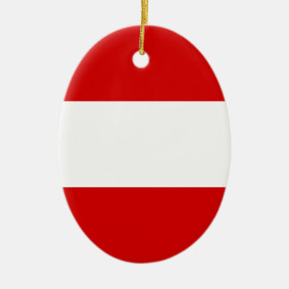 The Flag of Austria Ceramic Oval Decoration
