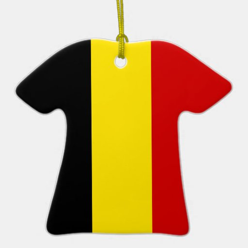 The Flag of Belgium Christmas Ornaments