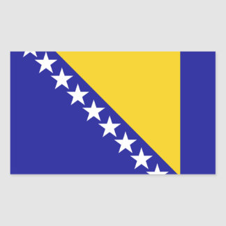 The flag of Bosnia and Herzegovina Rectangle Stickers