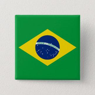 The Flag of Brazil 15 Cm Square Badge