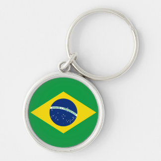 The Flag of Brazil Key Ring