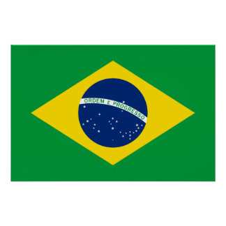 The Flag of Brazil Poster