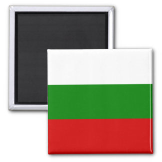 The Flag of Bulgaria Square Magnet