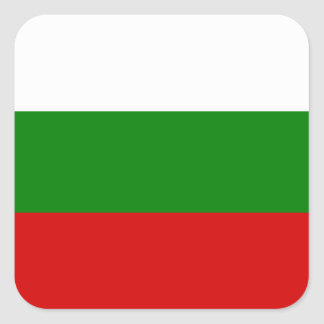 The Flag of Bulgaria Square Sticker