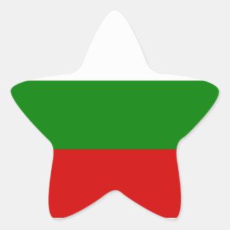 The Flag of Bulgaria Star Sticker