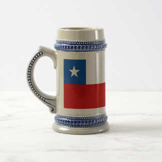 The Flag of Chile Beer Stein