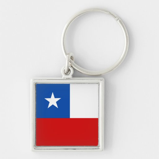The Flag of Chile Keychains