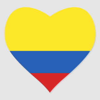 The Flag of Colombia Heart Sticker