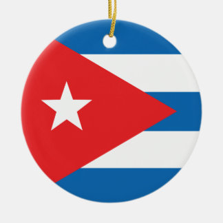 The Flag of Cuba Christmas Ornament