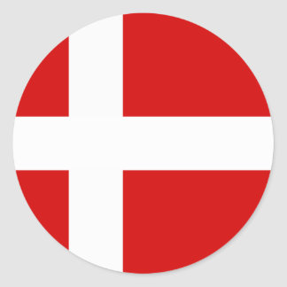 The Flag of Denmark Classic Round Sticker