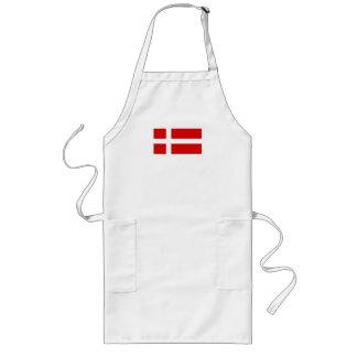 The Flag of Denmark Long Apron