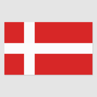 The Flag of Denmark Rectangular Sticker