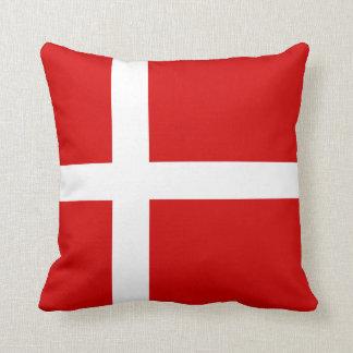The Flag of Denmark Throw Cushions