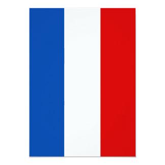 The Flag of France 13 Cm X 18 Cm Invitation Card