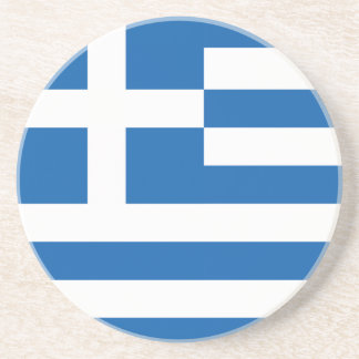 The Flag of Greece Coaster