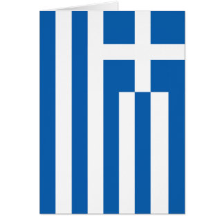 The Flag of Greece Greeting Card