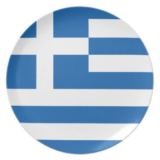 The Flag of Greece Plate