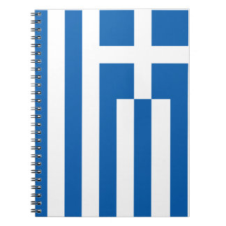 The Flag of Greece Spiral Notebook