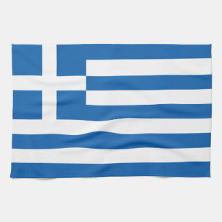The Flag of Greece Tea Towel