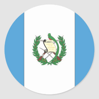The Flag of Guatemala Classic Round Sticker