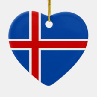 The Flag of Iceland Christmas Ornament