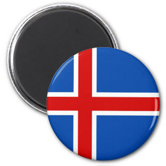 The Flag of Iceland Magnet