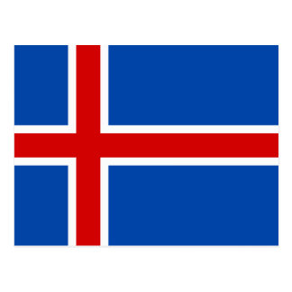 The Flag of Iceland Postcard