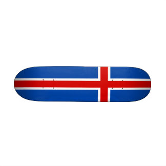 The Flag of Iceland Skate Boards