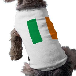 The Flag of Ireland, Irish Tricolour Sleeveless Dog Shirt