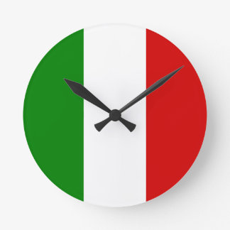 The Flag of Italy Round Clock