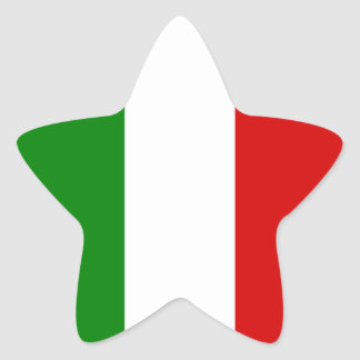 The Flag of Italy Star Sticker