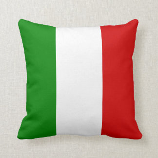 The Flag of Italy Throw Pillow