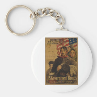The Flag of Liberty Basic Round Button Key Ring