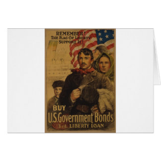 The Flag of Liberty Greeting Card