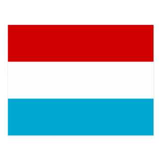 The Flag of Luxembourg Postcard