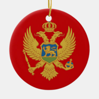 The Flag of Montenegro Christmas Ornament