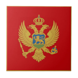 The Flag of Montenegro Small Square Tile
