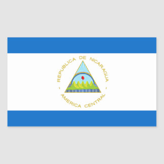 The Flag of Nicaragua - Latin America Rectangle Sticker